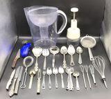 Assorted Kitchen Items: Brita Pitcher, Zyliss
