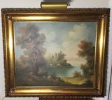 Picture in Ornate Gold Frame--30 1/2