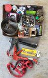 Assorted Screws, Nails, Caulking Gun & Misc.