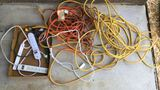 Assorted Extension Cords & Multi Plugs