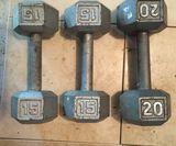 (3) Weights: (2) 15LB, (1) 20LB