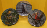 (3) 8.5'' Edwin M. Knowles Collectible Plates:
