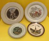 (4) Decorative Plates: Turbenthal Souvenir