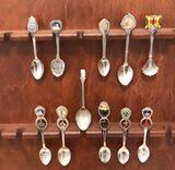 (11) Collectors Spoons: Boston 4? Silvertone