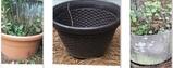 """(3) Plastic Planters - (2) 21"""" Dia c 14"""" Hand ("""