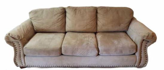 "Sofa with Brass Tacks, 88"" L"