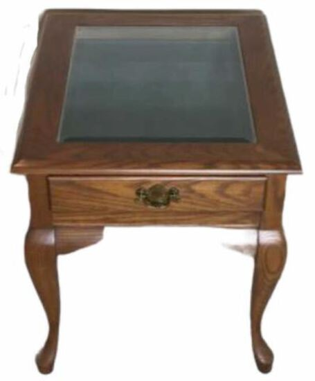 Queen Anne Style 1-Drawer End Table with
