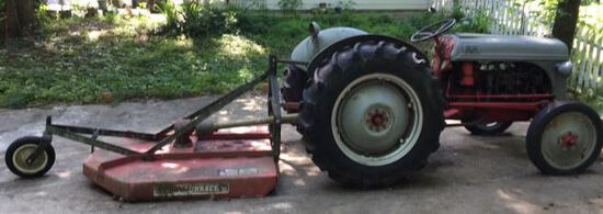 1950 Ford 8 N Tractor & (3) Implements -Click on 2nd Album Picture for Video