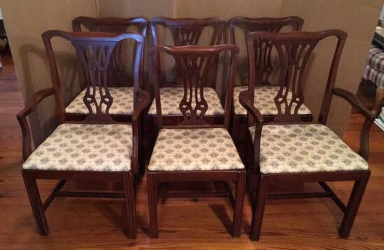 Set of (6) Mahogany Dining Chairs by Home
