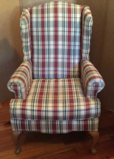 Upholstered Wing Chair by Bassett