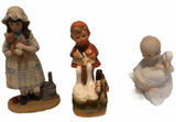 (3) Hand-Painted Figurines:  Limited Edition