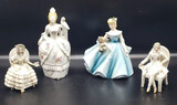 (4) Porcelain Figurines: (1) is a Small Planter,