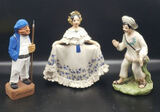 (3) Figurines (One Has chip)