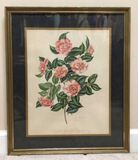Framed & Double Matted Lila Moore Keen Print--