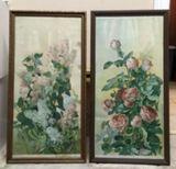 (2) Antique Framed Lithographs, 1909:
