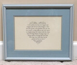 Framed & Double Matted Scripture Print by