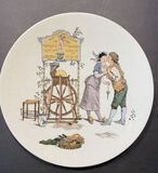 Sarreguemines Wheat Plate: to richard in cupid's