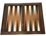 Backgammon Table with 14 Checkers, Shaker and Dice