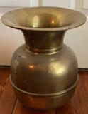 """Vintage Brass Spittoon - 10"""" x 12"""" H"""