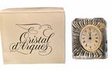 """Cristal D'Arques (France) """"Starburst"""" Quartz Clock"""