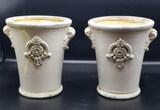 """(2) Ceramic Vases - 7 3/4"""" H"""