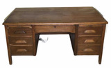 "Antique Oak Desk—60"" x 34"", 28 1/2"" High"