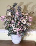 """Large Artificial Flower Arrangement—37 1/2"""" High"""