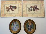 """(2) Oval Wood Frames 3""""x 4"""" and (2) """"Colorplak"""""""