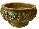 """Footed Bowl with Cherubs in Relief - 12"""" D x 8"""" H"""