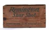 "Remington Shur Shot Wooden Box—14 1/2"" x 8 1/4"","