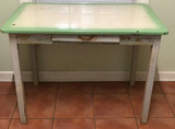 Antique Green and Ivory Enamel Top One-