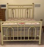 Full Size Metal & Brass Bed