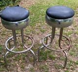 (2) Vintage Barstools