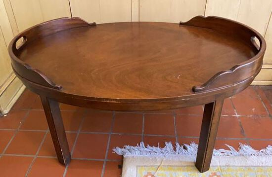 """Oval  Coffee Table - 38.5"""" x 27"""", 16 1/2""""H"""