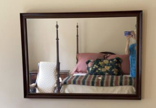 """Mirror in Wood Frame - 43 1/4"""" x 31 1/4"""""""