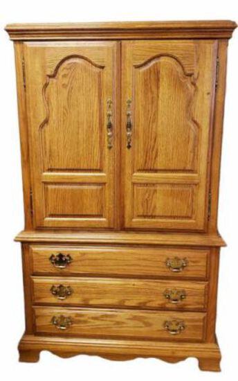 2-Door over 3-Drawers Armoire