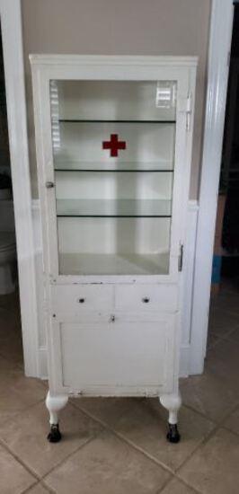 Antique White Medicine Cabinet, Original