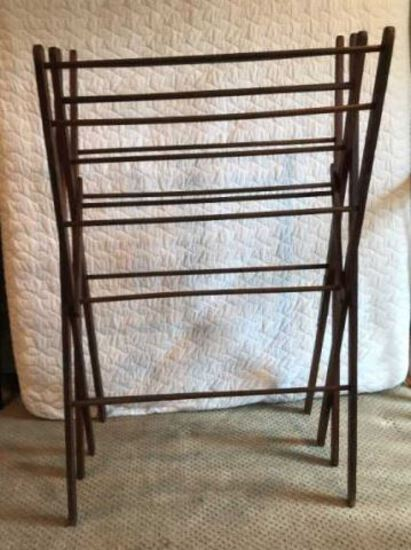 Antique Wooden Drying Rack, 48 1/2'' Tall, 33''
