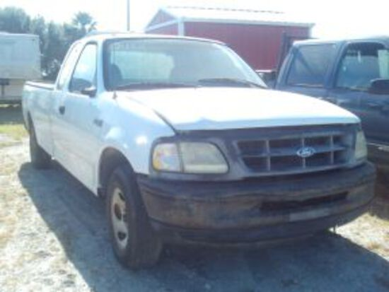 1997 FORD F150, WHITE, VIN#3090 WITH TITLE
