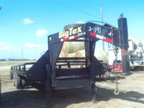 2010 BIG TEX 20' BACKHOE TRAILER W/DOVETAIL V.6642, WITH TITLE