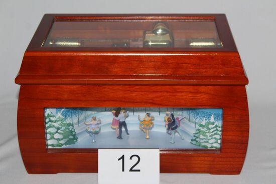 "RARE Mr. Christmas Gold Animated ""Boite De Musique"" Music Box"