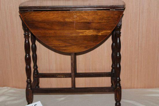 Antique Solid Wood Drop Leaf Table