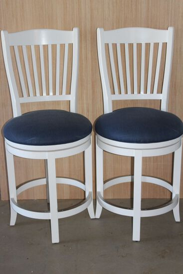 Super Nice HEAVY Bar Stools W/Footrest By Canadel