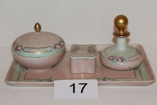 Vintage Limoges, Royal Bavaria & Vienna Dresser Set