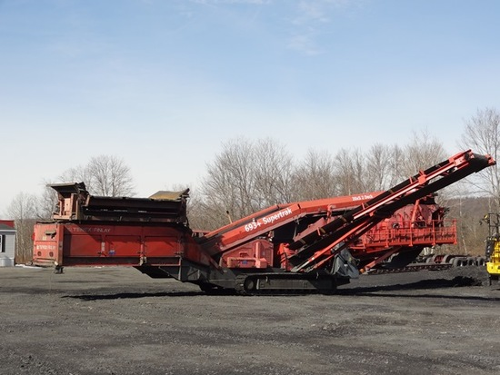 2012 TEREX-FINLAY Model 693 + Supertrak Crawler Screening Plant, s/n TRX006