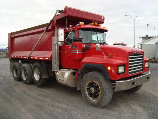 (Unit #7-106) 1994 MACK Model RD688S Tri-Axle Dump Truck, VIN# 1M2P267C0RM0