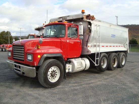 (Unit #7-68) 1999 MACK Model RD688S Tri-Axle Dump Truck, VIN# 1M2P270CXXM04