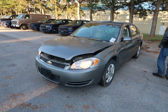 07 Chevrolet Impala  4DSD BK 6 cyl  Started w Jump on 9/8/21 AT PB PS R AC PW VIN: 2G1WB58K479394781