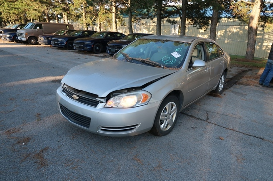 07 Chevrolet Impala  4DSD GY 6 cyl  Started w Jump on 9/8/21 AT PB PS R AC PW VIN: 2G1WB58K579386446