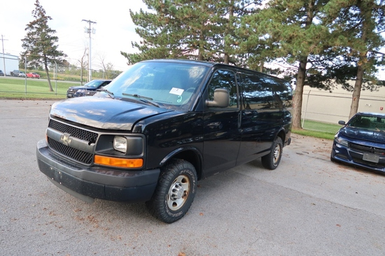 10 Chevrolet G3500 Express  Van BK 8 cyl  Started w Jump on 9/8/21 AT PB PS R AC PW VIN: 1GC2GTBA2A1